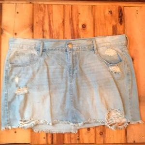 Old Navy Distressed Denim Skirt